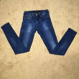Zara Basic Demin Medium Wash Skinny Jeans Size 8